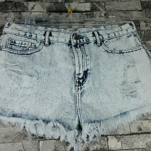 Forever 21 Button Fly Distressed Denim Jeans  32""